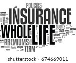 whole life insurance and why... | Shutterstock .eps vector #674669011