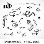 hand drawn arrows  vector set   Shutterstock .eps vector #674671051