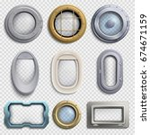 various portholes isolated... | Shutterstock .eps vector #674671159