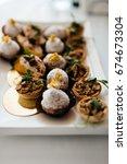 snacks on the table | Shutterstock . vector #674673304