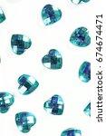 rhinestone background. heart... | Shutterstock . vector #674674471