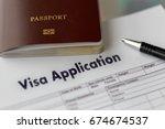 visa application form to travel ... | Shutterstock . vector #674674537
