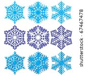 snowflakes. vector illustration. | Shutterstock .eps vector #67467478