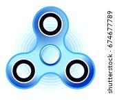 fidget hand spinner flat vector ...   Shutterstock .eps vector #674677789