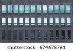 loft modern brick facade of the ... | Shutterstock . vector #674678761