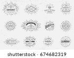sunburst on starburst element... | Shutterstock . vector #674682319