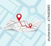 map navigation vector concept... | Shutterstock .eps vector #674683885