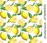 the seamless pattern of the... | Shutterstock . vector #674690545