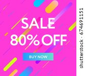 sale web banners template for... | Shutterstock .eps vector #674691151