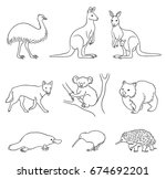 set of stylized vector... | Shutterstock .eps vector #674692201