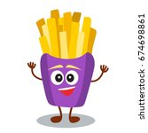 funny  cute fast food french... | Shutterstock .eps vector #674698861