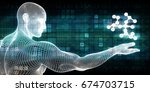 science and technology with... | Shutterstock . vector #674703715
