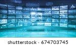 marketing business strategy as... | Shutterstock . vector #674703745