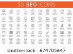set of raster seo search engine ... | Shutterstock . vector #674705647