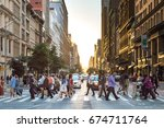 new york city   circa 2017 ... | Shutterstock . vector #674711764