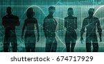 next generation of workers... | Shutterstock . vector #674717929