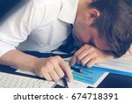 chronic fatigue syndrome... | Shutterstock . vector #674718391