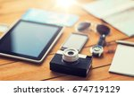 travel  tourism  technology and ...   Shutterstock . vector #674719129