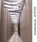 row of servers. | Shutterstock . vector #674720