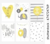 baby shower card design | Shutterstock .eps vector #674724769