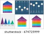 bundle infographics design | Shutterstock .eps vector #674725999