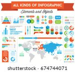 infographics elements and... | Shutterstock . vector #674744071