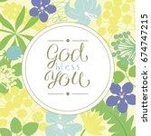 Hand Lettering God Bless You ...