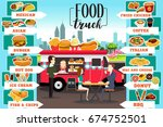 a vector illustration of food... | Shutterstock .eps vector #674752501