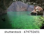 emerald cave   arizona  ... | Shutterstock . vector #674752651