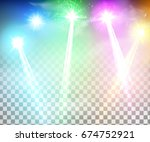 realistic bright projectors for ... | Shutterstock .eps vector #674752921