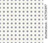 seamless pattern with a soccer... | Shutterstock .eps vector #674754397