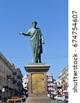 monument to duke de richelieu ... | Shutterstock . vector #674754607