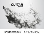 electric guitar of the... | Shutterstock .eps vector #674760547