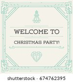 vintage style invitation for