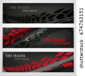 vector automotive banners... | Shutterstock .eps vector #674763151