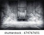 3d rendering of an smoky... | Shutterstock . vector #674767651