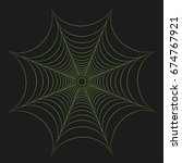 illustration of greenery cobweb ... | Shutterstock . vector #674767921