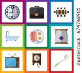 flat icon oneday set of... | Shutterstock .eps vector #674768905