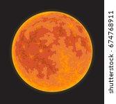 full moon on a black sky.... | Shutterstock .eps vector #674768911
