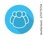 community flat linear long... | Shutterstock .eps vector #674775724