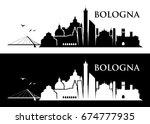 bologna skyline   italy  ... | Shutterstock .eps vector #674777935