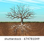 an image of a tree stylish seen ... | Shutterstock . vector #674781049