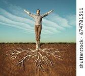image of a man that has taken... | Shutterstock . vector #674781511