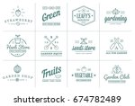 set of raster garden and farm... | Shutterstock . vector #674782489