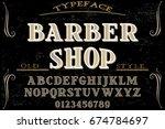 font.alphabet.script.typeface... | Shutterstock .eps vector #674784697