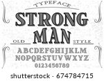 font.alphabet.script.typeface... | Shutterstock .eps vector #674784715