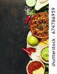 mexican food concept  tortilla... | Shutterstock . vector #674786959
