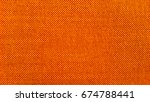 red and orange fabric texture  | Shutterstock . vector #674788441