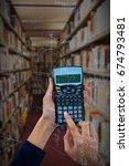 hands of businesswoman using... | Shutterstock . vector #674793481