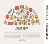 craft beer concept with thin... | Shutterstock .eps vector #674794831
